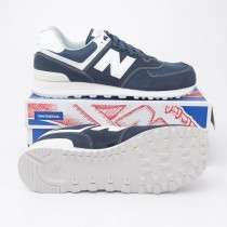 New Balance Men's 574 Classics Running Shoes ML574SEE in Navy