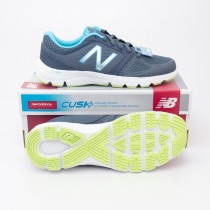 New Balance Women's Comfort Cushion 575v2 Running Shoes W575LT2 in Grey with Blue