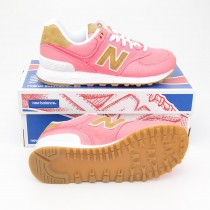 New Balance Women's 15 Ounce Canvas 574 Classics Running Shoes WL574CDA in Solar Pink