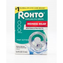 Rohto Cooling Eye Drops Redness Relief Lubricant Eye Drops .4 fl oz
