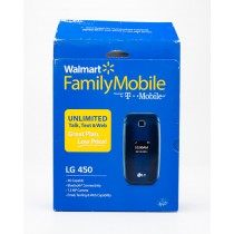 Walmart Family Mobile LG Pre-Paid No Contract LG 450 Flip Phone