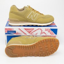 New Balance Men's Outdoor 574 Classics Running Shoes ML574HRF in Linseed