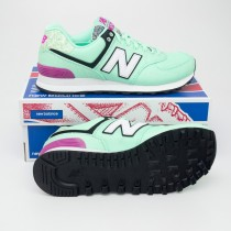 New Balance Women's Art School 574 Classics Running Shoes WL574ASE in Agave Green