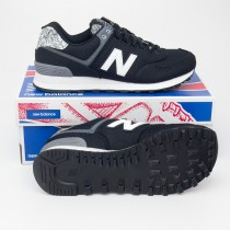 New Balance Women's Art School 574 Classics Running Shoes WL574ASB in Black