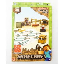 Jazwares Minecraft Papercraft 30 Piece Overworld Utility Pack