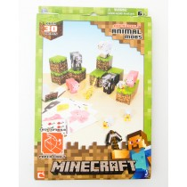 Jazwares Minecraft Papercraft 30 Piece Overworld Animal Mobs