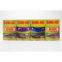 Band-Aid Teenage Mutant Ninja Turtles Assorted Sizes Adhesive Bandages - Set of 4 - 20 Ct Packages