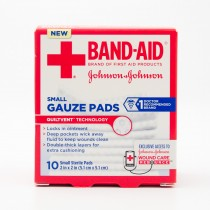 Band-Aid Small Sterile Guaze Pads 10 Pads