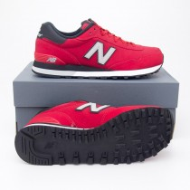 New Balance Men's Retro 515 Classics Running Shoes ML515SKH in Nubuck Red