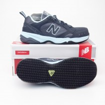New Balance Women's Steel Toe 627 Suede Work Shoes WID627GL in Dark Grey