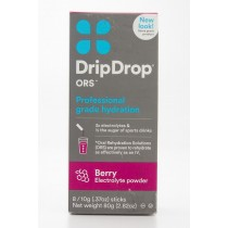 Drip Drop ORS Electrolyte Hydration Powder Berry Flavor 8 - 10g Powder Sticks