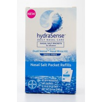 HydraSense Nasal Salt Packet Refills 60 Pre-Measured Packets