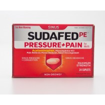 Sudafed PE Sinus Pressure + Pain for Adults 24 Caplets