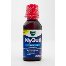 Vicks NyQuil Cold & Flu Cherry Flavor 8 fl oz