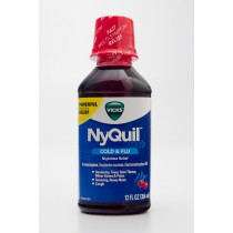 Vicks NyQuil Cold & Flu Cherry Flavor 12 fl oz