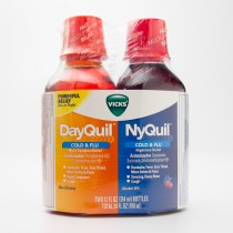 Vicks DayQuil & NyQuil Cold & Flu 2 - 12 fl oz Bottles