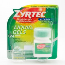 Zyrtec 24 Hour Allergy Relief Antihistamine 25 Liquid Gels