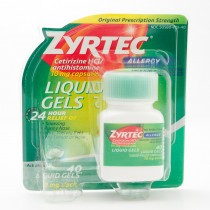 Zyrtec 24 Hour Allergy Relief Antihistamine 40 Liquid Gels