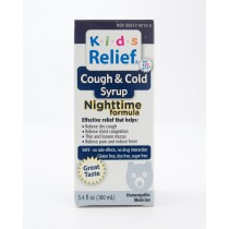 Kids Relief Cough & Cold Syrup Nighttime Formula 3.4 fl oz