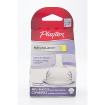 Playtex PlayTex NaturaLatch 2 Silicone Nipples - Slow - 0-3 M+