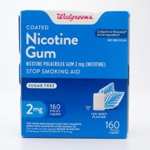 Walgreens Coated Nicotine Gum 2mg -  Ice Mint Flavor 160 Pieces