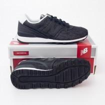 New Balance Women's Cotton Denim 696 Classics Running Shoes WL696DB in Black