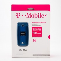 T-Mobile LG Pre-Paid No Contract LG 450 Flip Phone