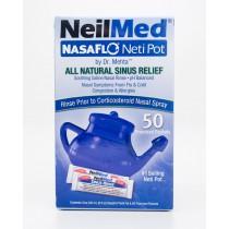NeilMed NasaFlo Neti Pot with 50 Premixed Packets