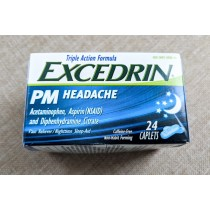 Excedrin PM Headache Nighttime Pain Reliever 24 Caplets