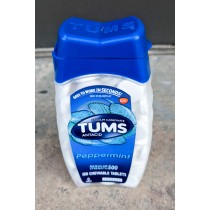 Tums Antacid Peppermint Regular Strength 500mg 150 Chewable Tablets