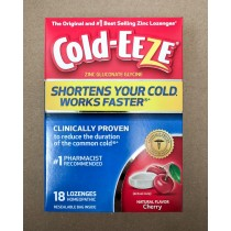 Cold-Eeze Homeopathic Zinc Cherry 18 Lozenges