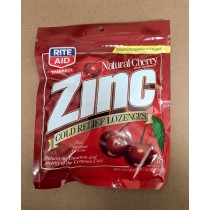Rite Aid Zinc Cold Remedy Lozenges Natural Cherry 18 Lozenges
