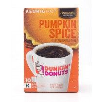 Dunkin' Donuts Pumpkin Spice Flavored Coffee 10 K-Cup Pods (net wt 3.7 oz)