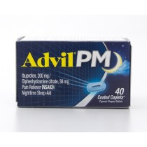 Advil PM Pain Reliever (NSAID)/Nighttime Sleep-Aid 40 Coated Caplets