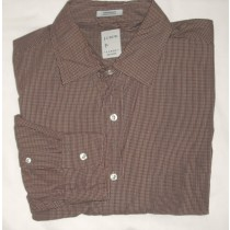 J Crew Sueded Broadcloth Check Shirt Men's Large - L