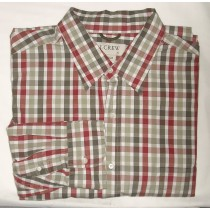 J Crew Tattersall Check Shirt Men's Extra Large - XL