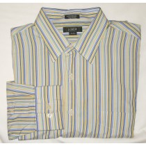 J Crew Striped Dress Shirt Men's Large - L - 16-16.5