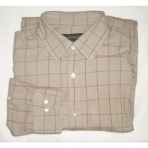 Banana Republic Herringbone Windowpane Check Shirt Men's Large - L
