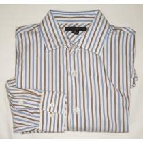 Banana Republic Fitted Striped Dress Shirt Men's Small - 14-14.5