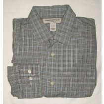 Banana Republic Glen Plaid Dress Shirt Men's Large - 16-16.5