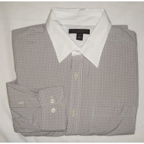 Banana Republic Classic Fit Gingham Dress Shirt Men's Large - 16-16.5