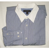 Banana Republic Classic Fit Striped Dress Shirt Men's Large - 16-16.5