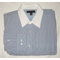 Banana Republic Classic Fit Striped Dress Shirt Men's Large - 16-16.5
