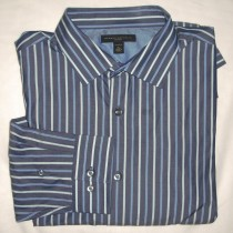 Banana Republic Fitted Striped Dress Shirt Men's Extra Large - 17-17.5