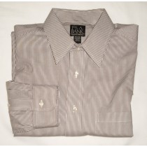 Jos A Bank Traveler's Collection Striped Dress Shirt Men's 15.5-32