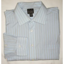 Jos A Bank Traveler's Collection Striped Dress Shirt Men's 17-35