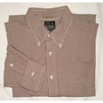 Jos A Bank Regular Fit Gingham Dress Shirt Men's 16.5-35