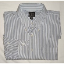 Jos A Bank Striped Pinpoint Oxford Dess Shirt Men's 15.5-33