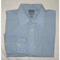Jos A Bank Stays Cool Gingham Dress Shirt Men's 16.5-33