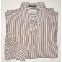 Paul Fredrick Striped Pinpoint Oxford Dress Shirt Men's 15-33